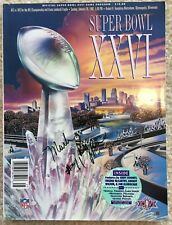 MARK RYPIEN Signed Autographed Super Bowl XXVI Program, Washington Redskins
