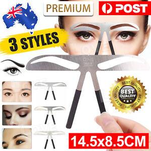 Brow Stencil Shaper Tattoo Eyebrow Kit Ruler 3D Balance Template Makeup Tool AU