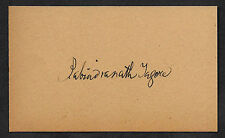 Rabindranath Tagore Autograph Reprint On Genuine Original Period 1913 3X5 Card