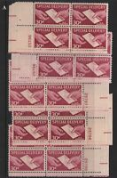 1957 Special Delivery 30c Sc E21 MNH plate blocks A