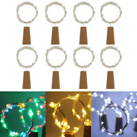 Nice LED Copper Wire Cork Wine Bottle Starry Fairy Light for Wedding Xmas Party