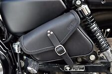 HARLEY DAVIDSON SPORTSTER LEFT OR RIGHT SADDLE BAG  ITALIAN LEATHER ENDSCUOIO
