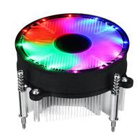 RGB Fan For Intel LGA 1155 1151 1150 Gaming Computer CPU Cooler Cooling PC A