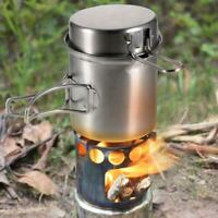 Outdoor Camping Stove Cooking Pot Set Stainless Steel Tableware Cookware C#P5