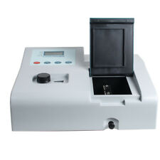 4 Lcd Visible Spectrophotometer Lab Equipment 350 1020nm 110v Tungsten Lamp