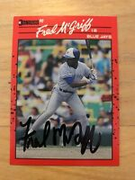 Fred Mcgriff Autograph Signed Donruss 1990 Baseball Card Blue Jays