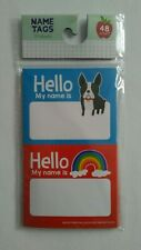 48 New colorful rainbow dogs Hello name tag stickers my name is school
