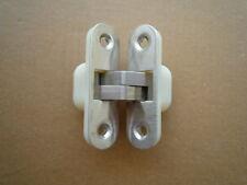 Cerniera a scomparsa per porte - finitura acciaio inox 18/8 satinato mm. 89x25