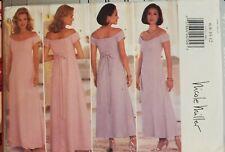 Butterick Nicole Miller pattern 4777 MIsses'/Petite Dress sz 6, 8, 10, 12 uncut