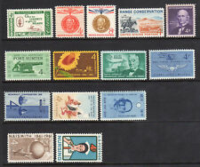 US 1961 Complete Commemorative Year Set of 14 - 1144, 1174-1190 - MNH