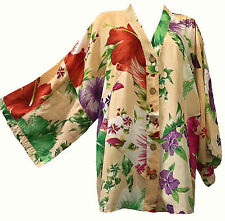 Nwt FUNKY STUFF floral patch kimono rayon TOP TUNIC 4X 2017 HAWAIIAN COLLECTION