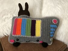 "Retro Tv Pillow With ""Rabbit Ears� Handmade New"