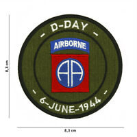 Morale Patch D Day 82nd Airborne  7107 embroired