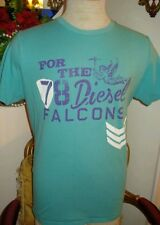 Diesel T-Shirt Blue/Green Men's Short Sleeve Size Large,Retail $65.00