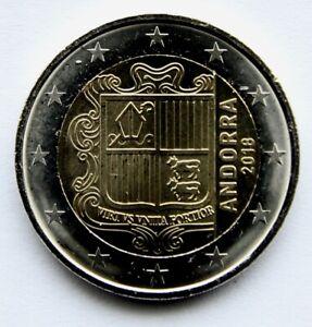 ANDORRA - 2 € Euro circulation coin 2018 UNCIRCULATED COIN