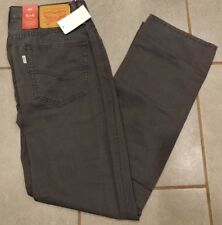 New Mens 514 Levi Strauss Straight Padox Canvas Gray Pants Jeans 36x32 36w 32L