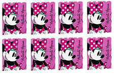 EIGHT PACK Disney Minnie Mouse Document Folder with Elastic Closure