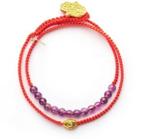Peace Of Spirit - Amethyst Evil Eye Red String Wrap by Karma and Luck
