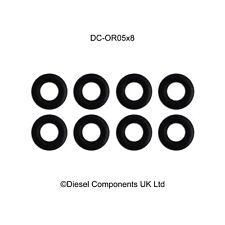 Genuine Bosch Common Rail Piezo Injector Leak Off O Ring / Seal x 8
