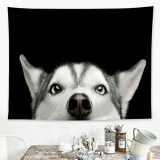 Alaskan Husky Wolf Dog Face Eye Tapestry Wall Hanging Poster Mats Decor Crafts