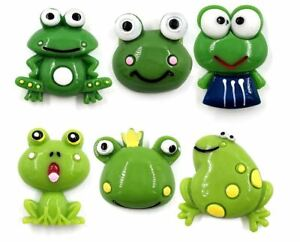 6 X Refrigerator Magnet Funny Signal Geocaching Frog Frogs Cute Green Set