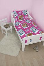 PAW PATROL 'STARS' JUNIOR TODDLER COT BED SIZE GIRLS PINK DUVET QUILT COVER SET