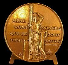 Médaille aux Héros Monument La France palais de Tokyo sc Antoine Bourdelle medal