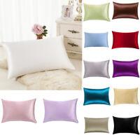 100% Pure Mulberry Silk Pillow Case Cushion Covers Zipper Closure Queen Natural