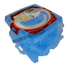 Nail art craft trucco più caso box utility S037 in colore blu