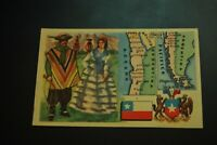 Vintage Cigarettes Card. CHILE. REGIONS OF THE WORLD COLLECTION. (Rare).