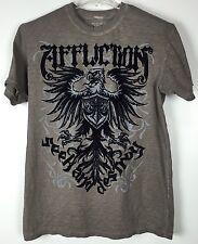 Mens Affliction Shirt Large Graphic Tee Short Sleeve Crew Cotton Seek Destroy