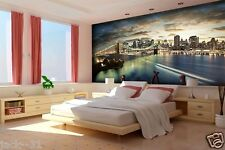 Mural wall Brooklyn Bridge New York - 11 pi x 8 pi - CUSTOM wallpaper pont