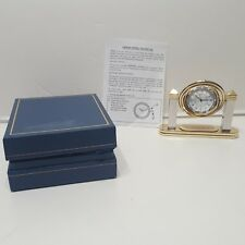 "Cleveland Ohio Gold Tone The Plan Dealer Desk Clock 2 1/2""h x 3"" w Quartz Analog"