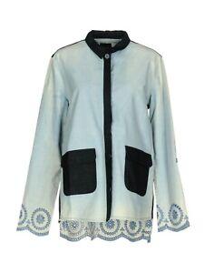 Camicia Donna Giacca Jeans TWIN-SET S.Barbieri Blusa I919 Celeste Tg S veste+