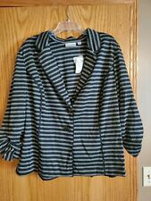 Avenue Black and Gray Jacket NWT Plus Size 26/28