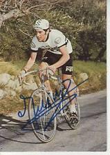 CYCLISME carte cycliste HUBERT LINARD équipe PEUGEOT MICHELIN 1976 signée