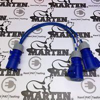 Marten® 230v 16 Amp Plug to 2 x 16A Sockets 2 Way 230 Volt Power Splitter