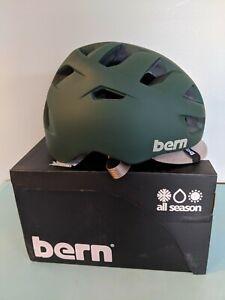 Bern Allston Bike Helmet BRAND NEW Size Medium Matte Hunter Green