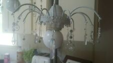 Refurbished Lamp Made With Genuine Quartz Crystal, Kiwi Stone, Synthetic...