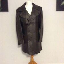 Leather Unbranded Regular Military Coats & Jackets for Men