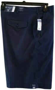 Cremieux Mens New $70 Big Man Flat Front Chino Shorts 44B 46B 48B 50B Blue NWT