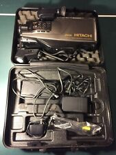 Hitachi Vm-2500A Video Camera Camcorder Vintage W/ Case And Accessories
