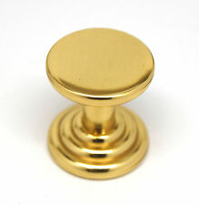 Amerock Fusital Polished Brass Cabinet Door Cupboard Drawer Pull Knob Hardware