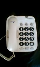 BT BIG BUTTON + PHONE  - Extra Loud Corded Big Button Telephone - WHITE