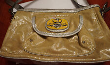 Used Kathy Van Zeeland Bag, Yellow sparkle color with logos