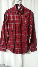 Brooks Brothers Men's Sz L Button Front Shirt Red Plaid The Original Polo Shirt