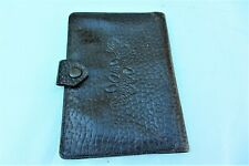 MENS CHOCOLATE COLOUR LEATHER DOCUMENT HOLDER WALLET VINTAGE