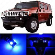 11 x Ultra Blue LED Interior Light Package For 2002 - 2009 Hummer H2