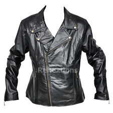 Ladies Biker Leather Jacket Biker Motorcycle Rider Soft Lamb Brando Jacket