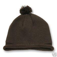 BROWN ROLL UP SHORT BEANIE SKI CAP SKULL CAPS HAT HATS